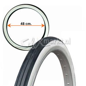 Solex Reifen 19'' - Schwarz/weiß
