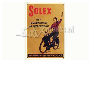 Solex Werbeschild 10cm x 15cm.